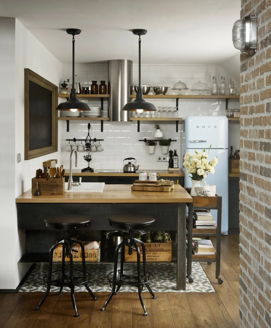 "Vintage Kitchen Photography: Designer`s ""Loft 9b"" In Sofia"