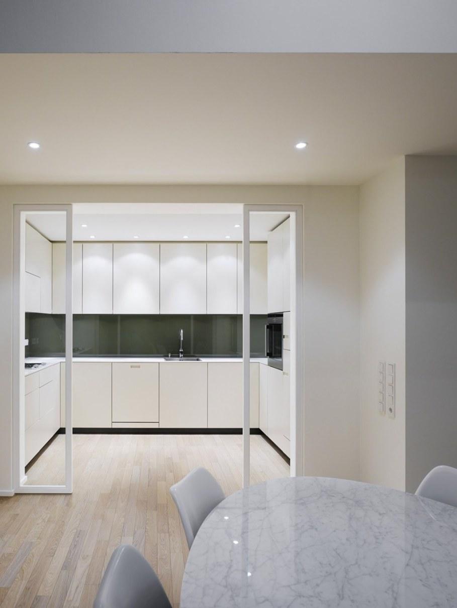 Elegant interior design - dining room and kitchen