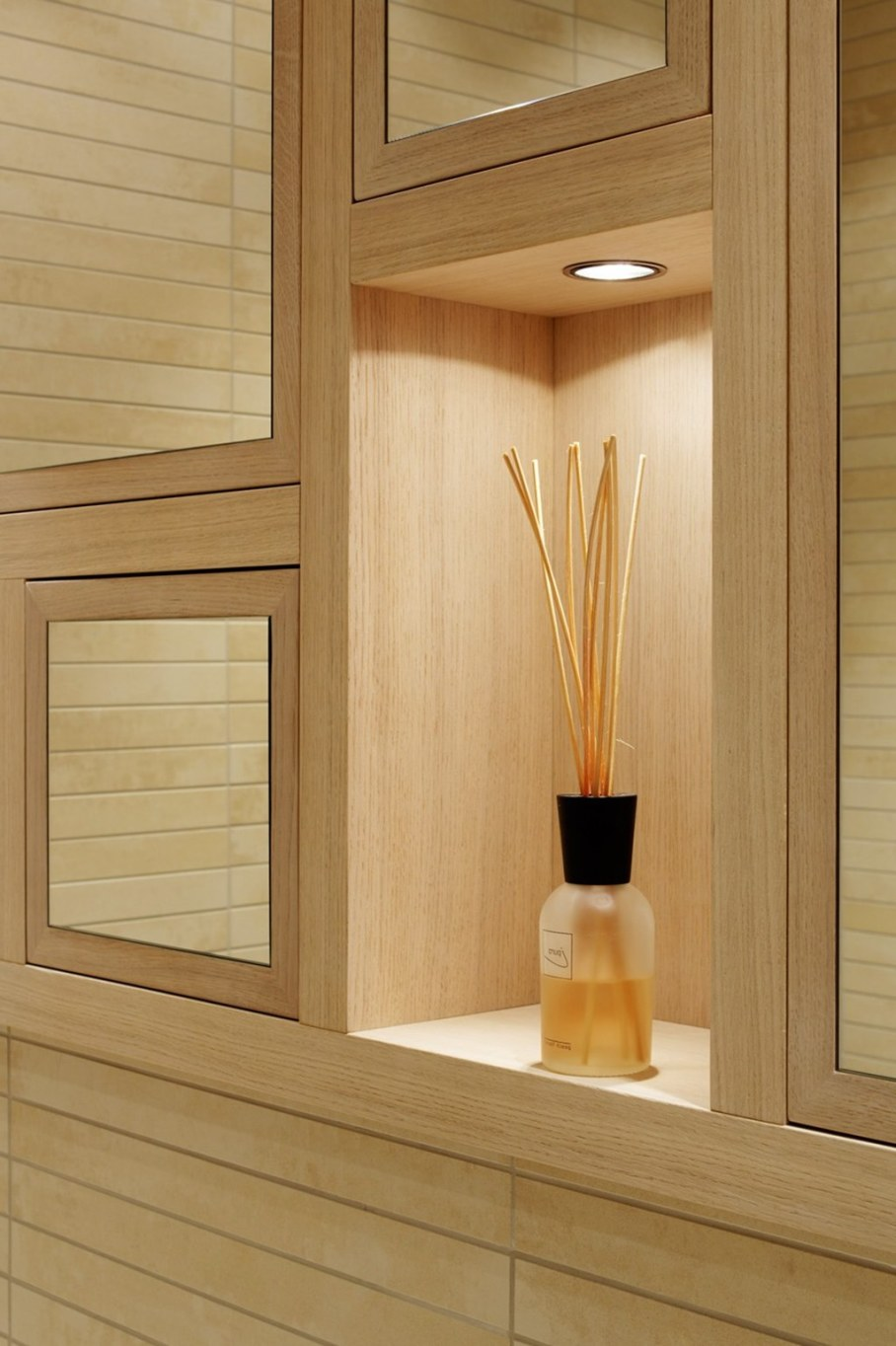 Elegant interior design - elegant bathroom - very similar to wood but in the fact it is ceramics