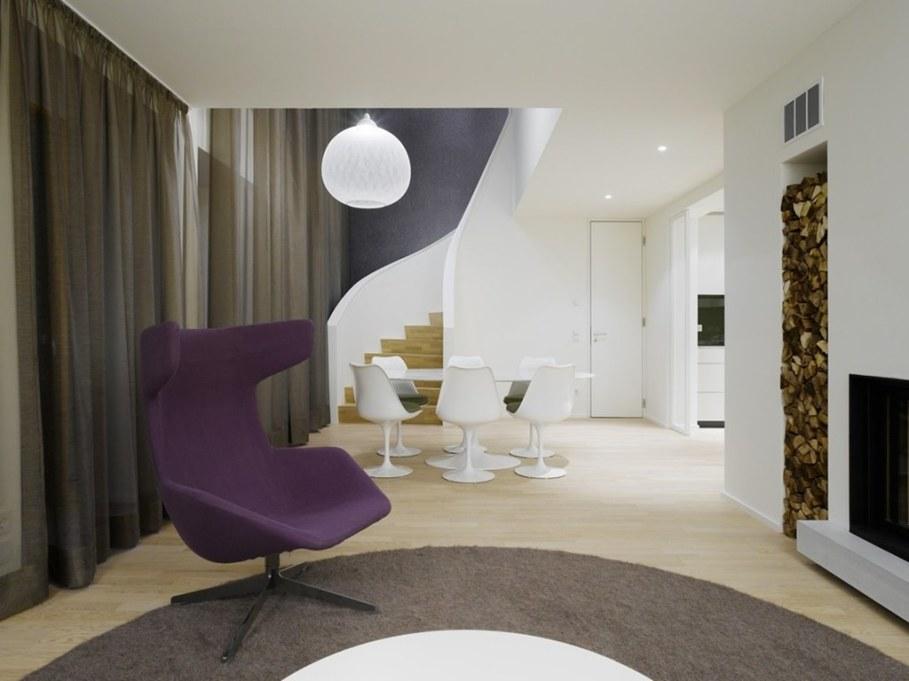 Elegant interior design - staircase leading to the second floor