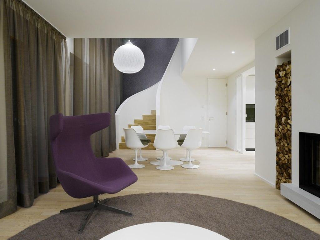 Modern interior design of a duplex apartment in New York