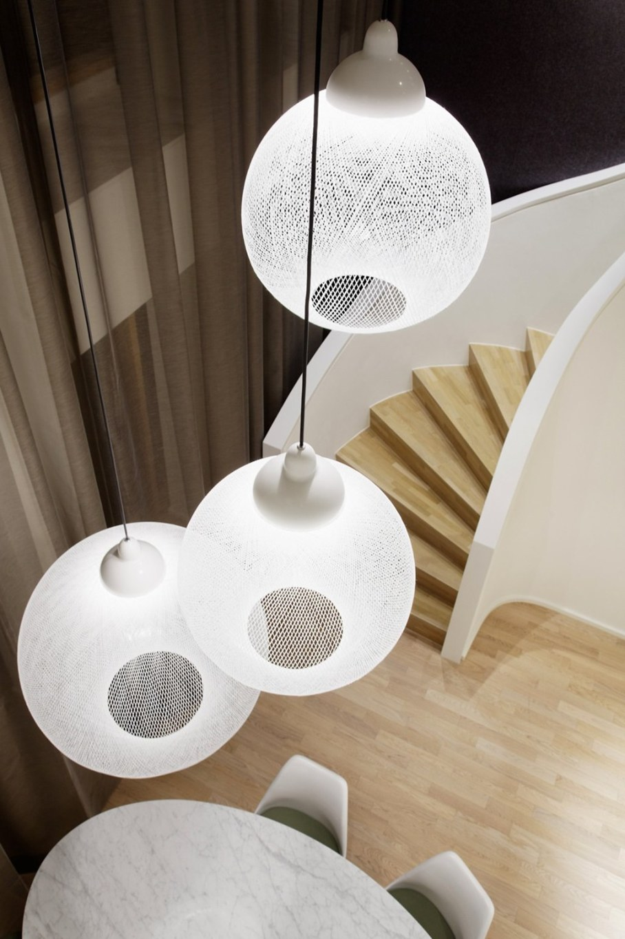 Elegant interior design - stylish floor lamp