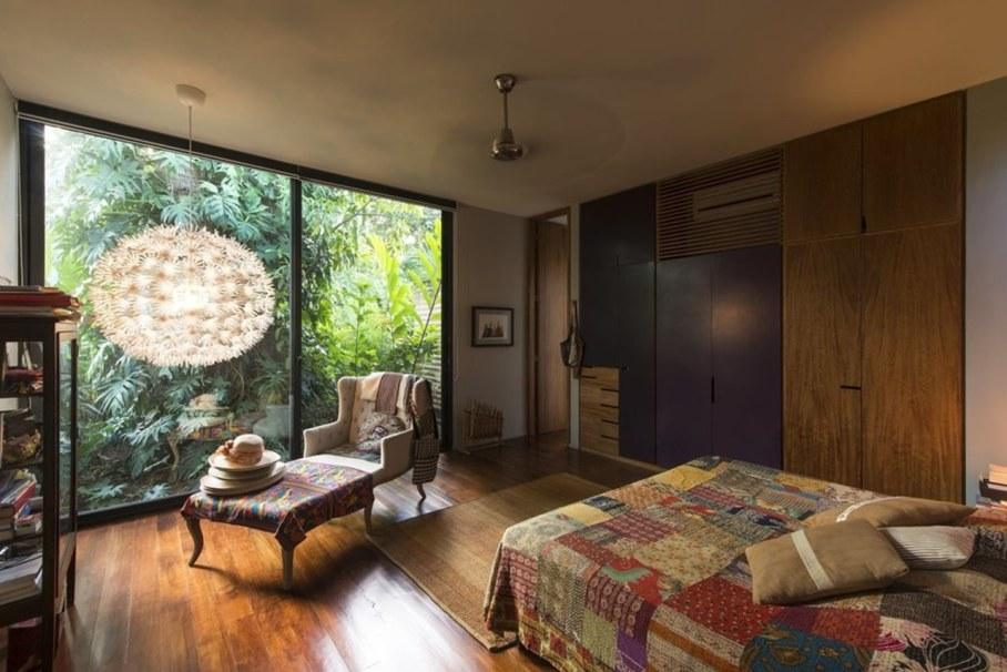 Energy-Saving Itzimna House in Mexico - Bedroom