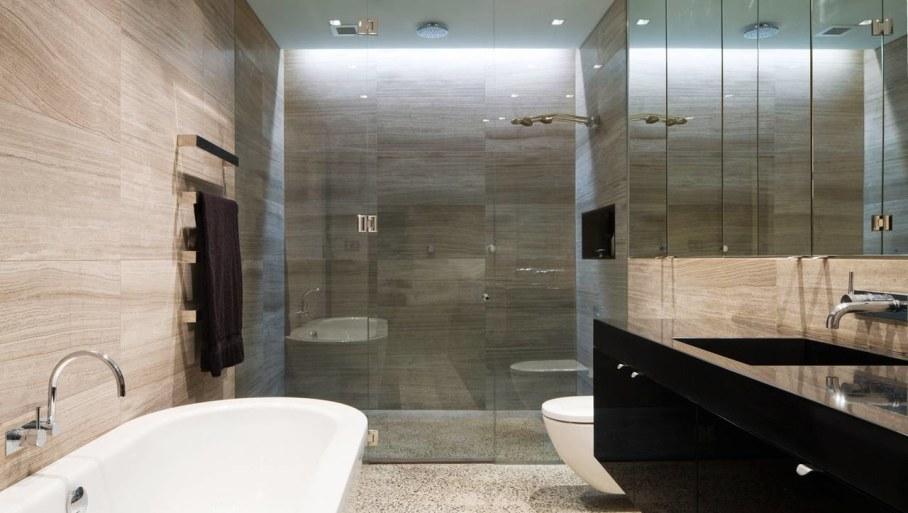 Grand loft house in Australia by Corben Architects studio - Bathroom