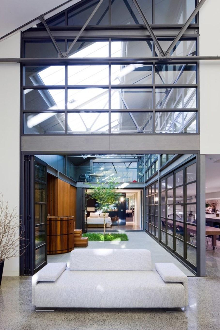 Grand loft house in Australia by Corben Architects studio - Living room 2