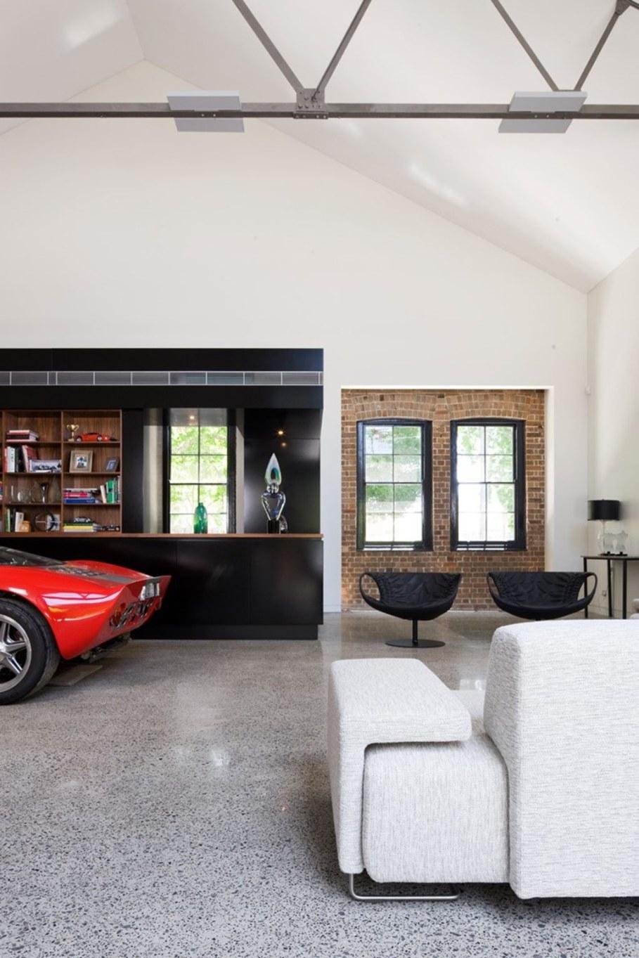 Grand loft house in Australia by Corben Architects studio - Living room 3