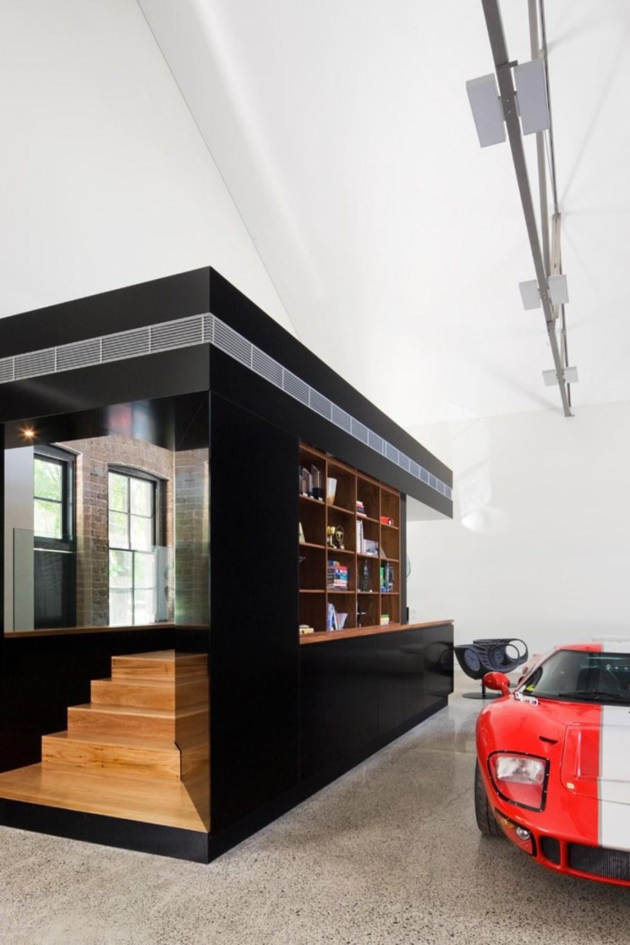 Grand loft house in Australia by Corben Architects studio - Living room 4