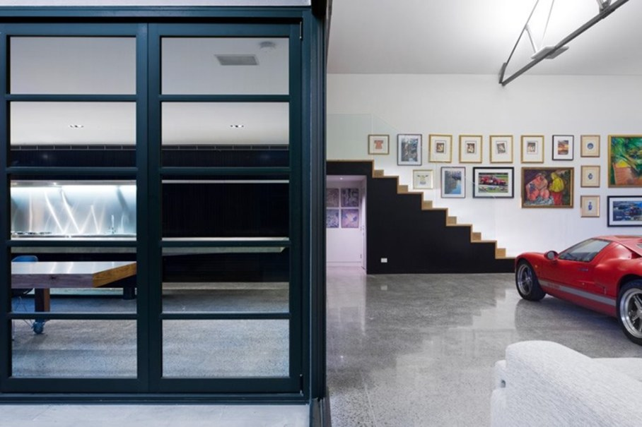 Grand loft house in Australia by Corben Architects studio - Living room 5