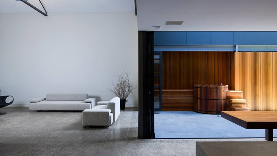 Grand loft house in Australia by Corben Architects studio - Living room 7