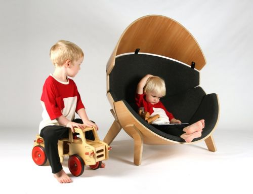 Rocking-Chair at Modern Interior