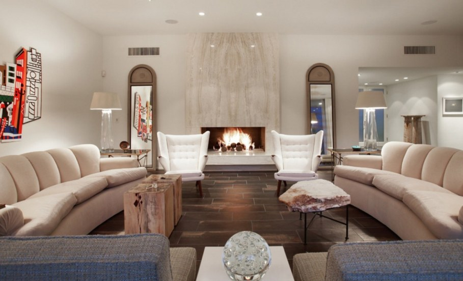 How to decorate the zone around fireplace original