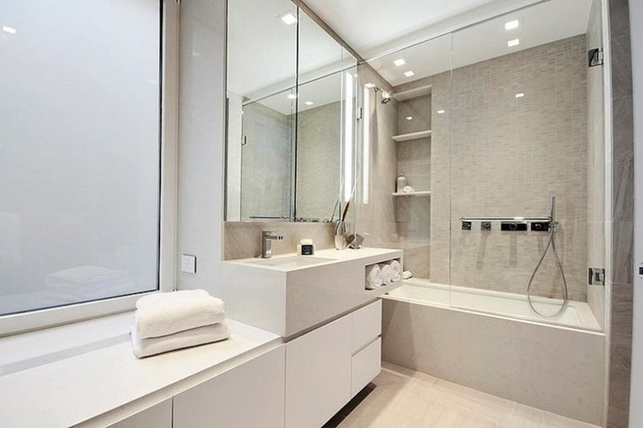Modern duplex apartment in New York - bathroom