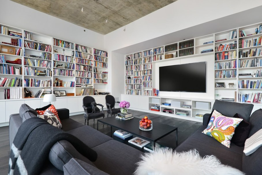 Penthouse Hi-Rise with panoramic view of Chicago - Living room