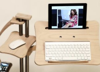 The stand up laptop desk: healthy and comfortable life