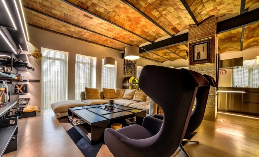 Stylish loft in Spain - Living room