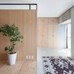 The apartment renovation from a Sinato studio in Yokohama