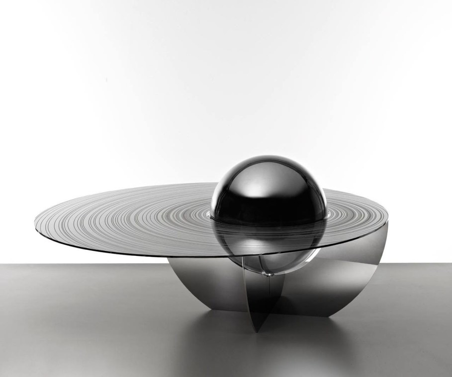 The cosmic design of the Boullee coffee table - Black color
