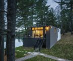 The new house on the site of an old cottage in Canada