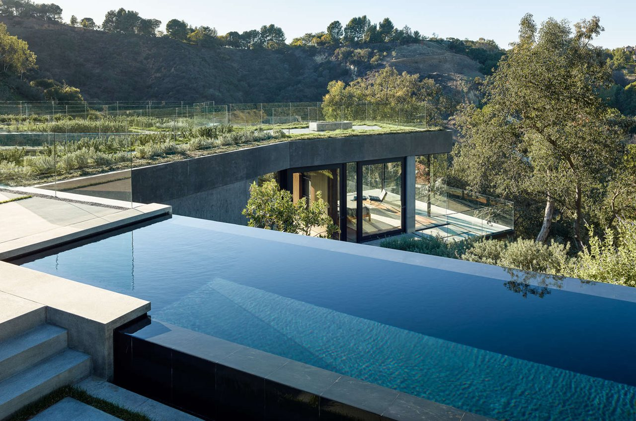 Oak pass main house in california by walker workshop for California private swimming pool code
