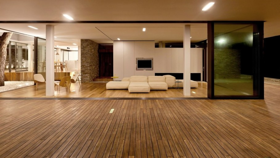 The shining Plane House residence on the Greek island - Living room