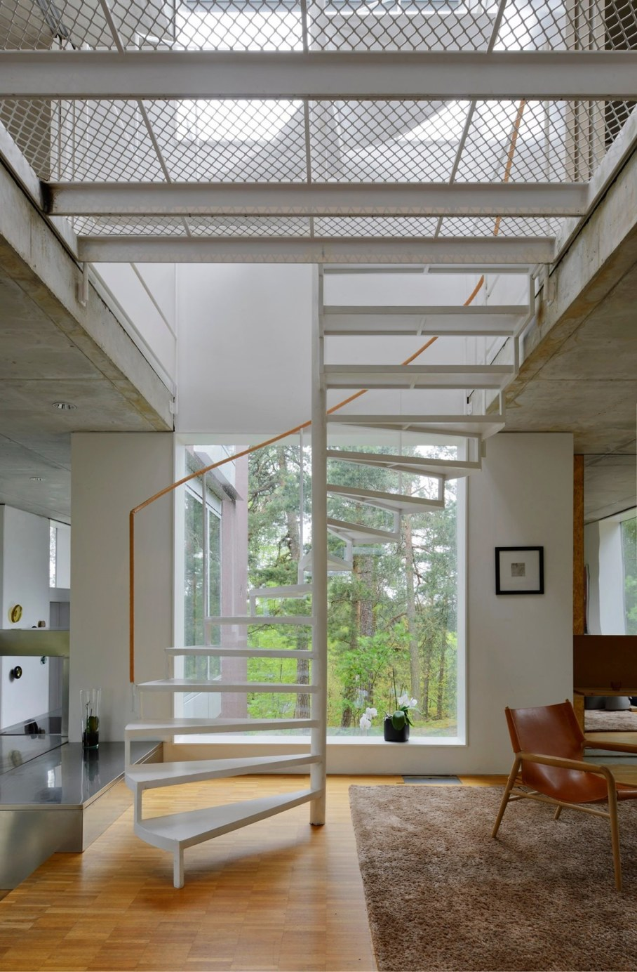 The villa Altona in ambience of untouched nature - Spiral staircase