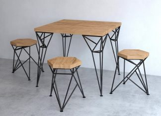 Uniquely Furniture Collection: Apollo Table And Spike Tabouret