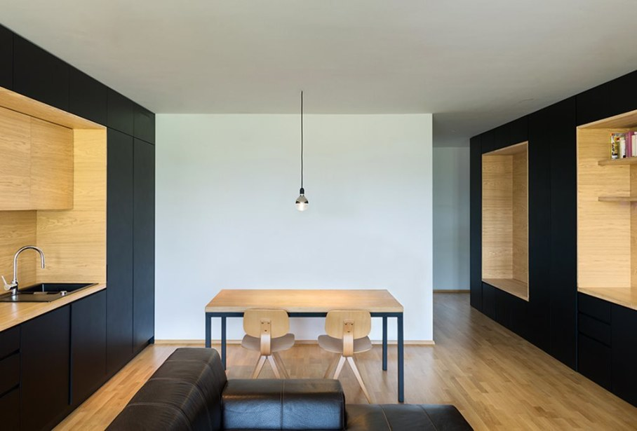 Youth Apartment in Ljubljana by Arhitektura doo studio - Dining room