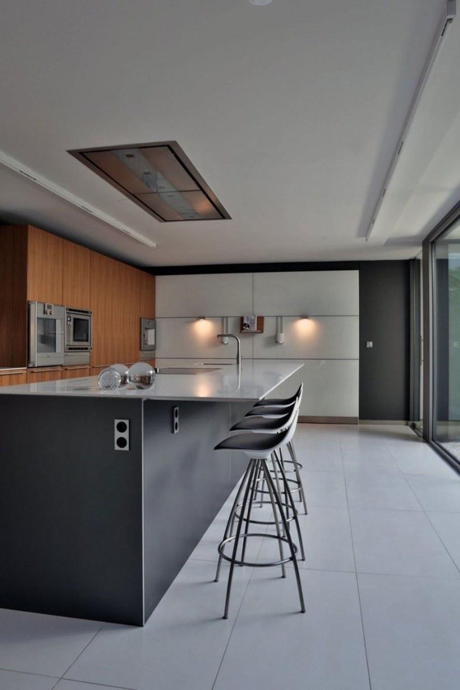A modern villa in Spain - kitchen island 1