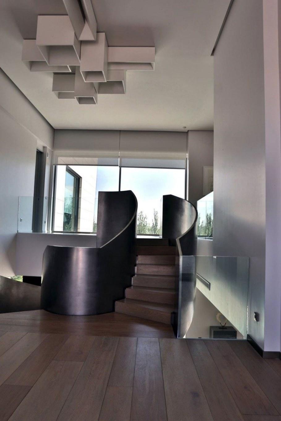 A modern villa in Spain - spiral staircase 2