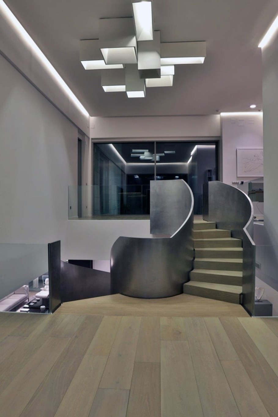 A modern villa in Spain - spiral staircase 3