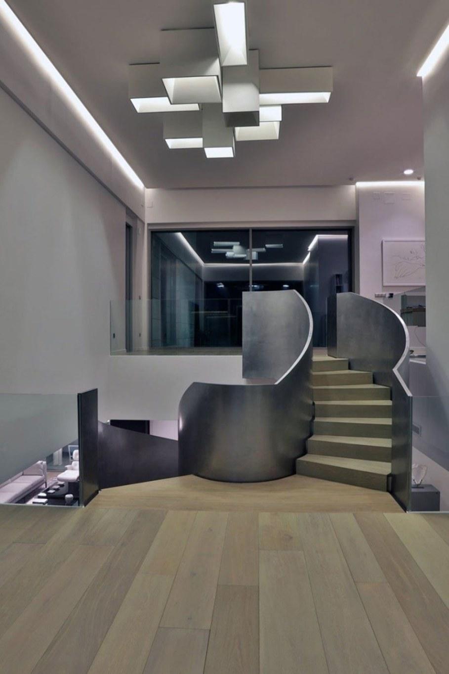 A modern villa in Spain - spiral staircase 3