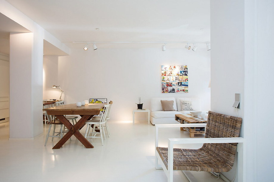 An apartment with the pallet decor in Stockholm 4