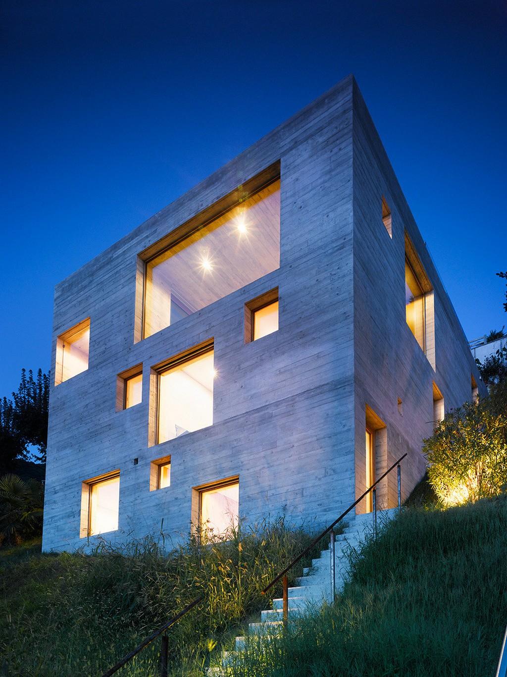 Concrete Made House From Wespi De Meuron
