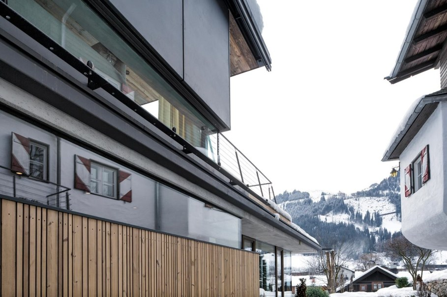 Country-house Austrian chalet with amazing interior made of concrete, wood and glass - Design ideas