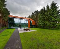 Design project of a private house: country house of a family man