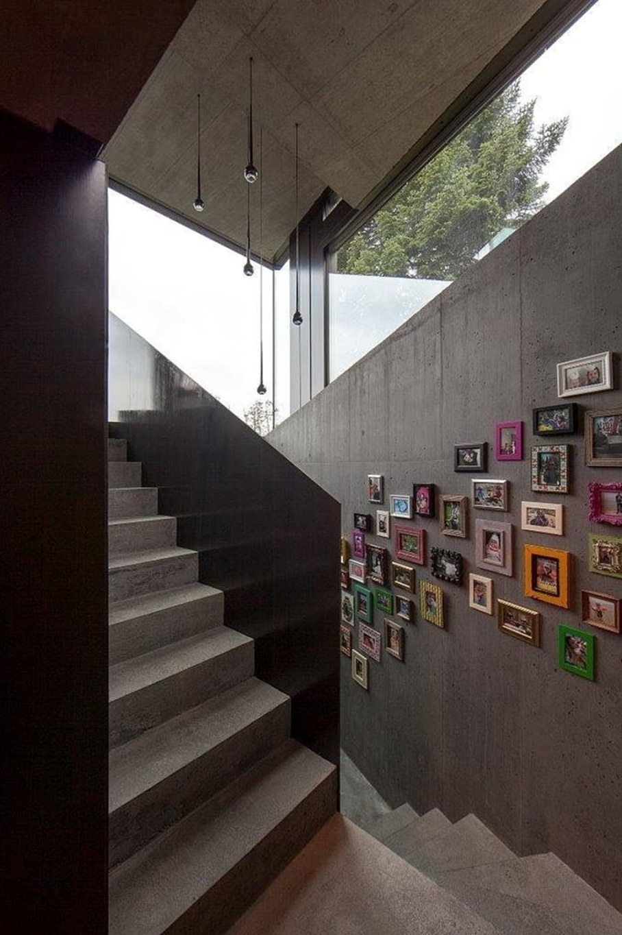 Design country house of glass and concrete 14
