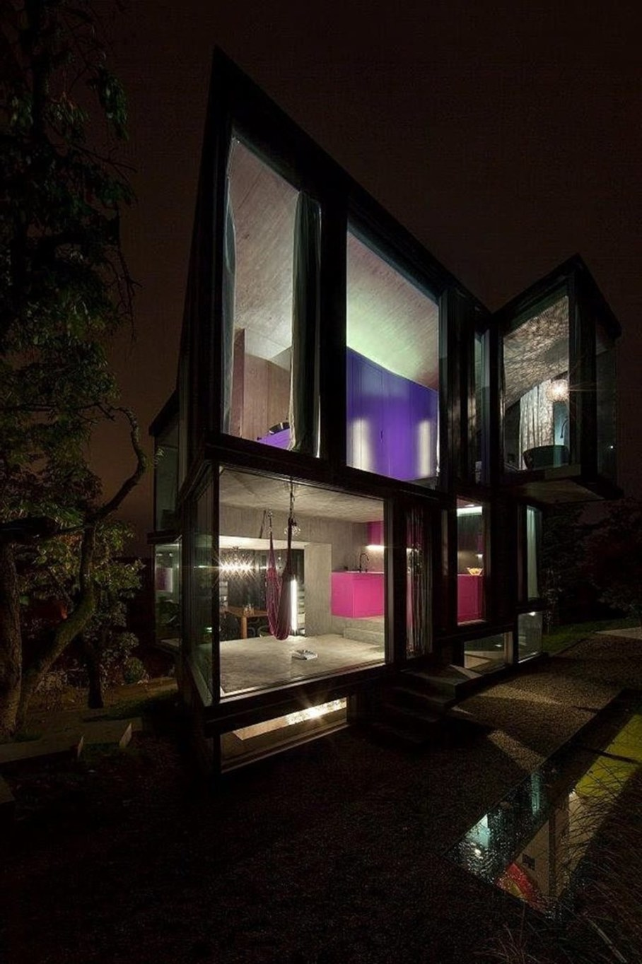 Design country house of glass and concrete 4