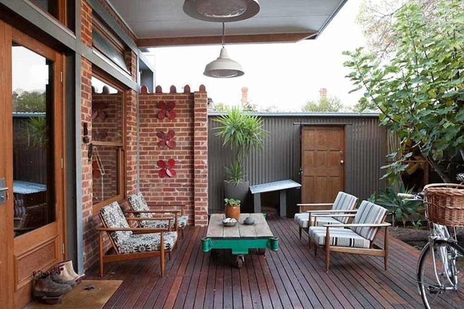 Design of a country house in a mixed style - The outdoor terrace