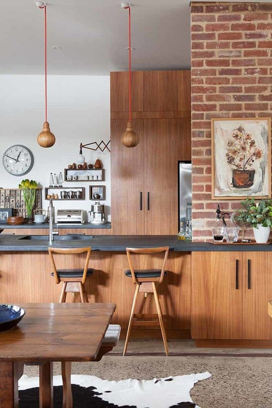 Design of a country house in a mixed style - kitchen