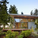 Glass Residence On The Creek Shore In Washington