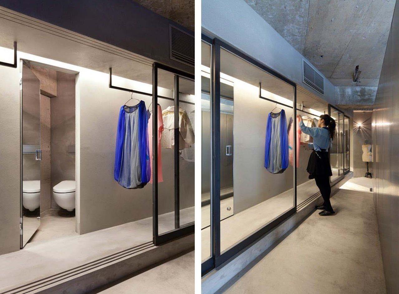 Corridor Design: Interior Design: A Concrete Apartment