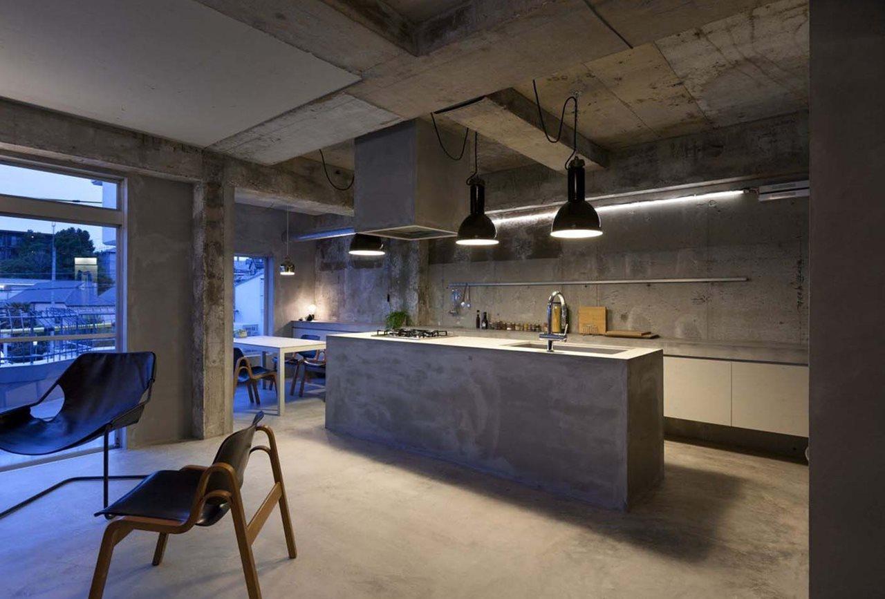 Concrete Interior Design design: a concrete apartment