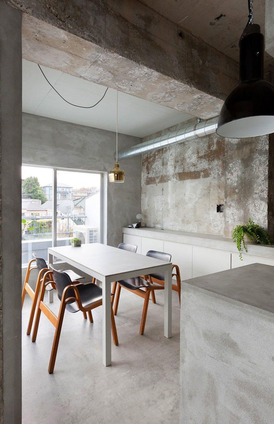 Apartment Interior Design: Interior Design: A Concrete Apartment