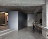 Interior design: a concrete apartment