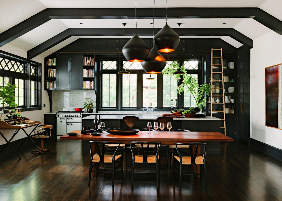 Library house from jessica helgerson interior design for Kitchen library portland