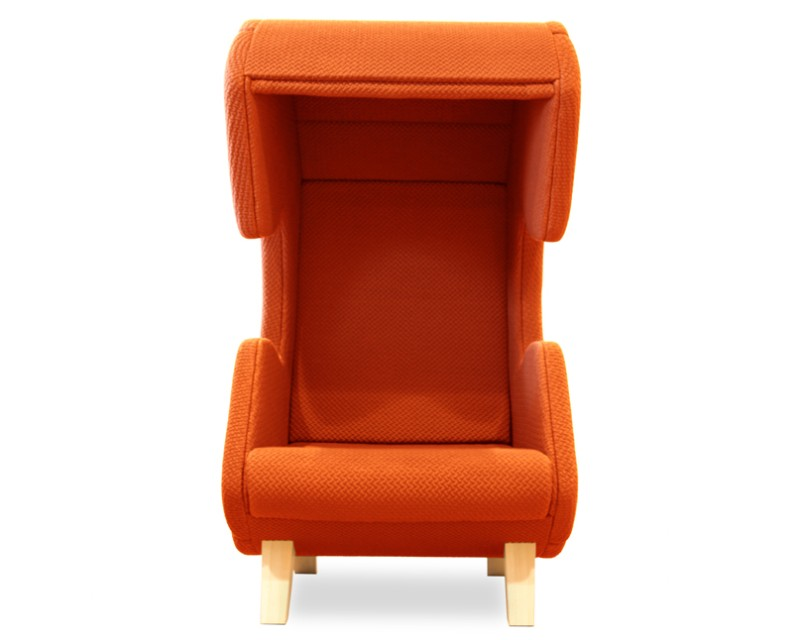 Modern furniture design - First Call chair - phone - orange