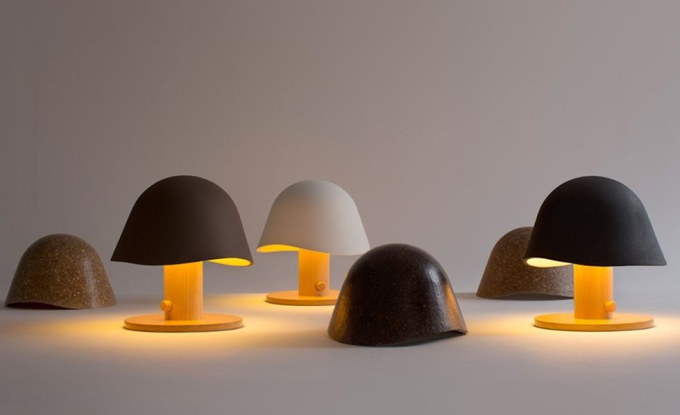 Mush Lamp - a portable table lamp - all color - on