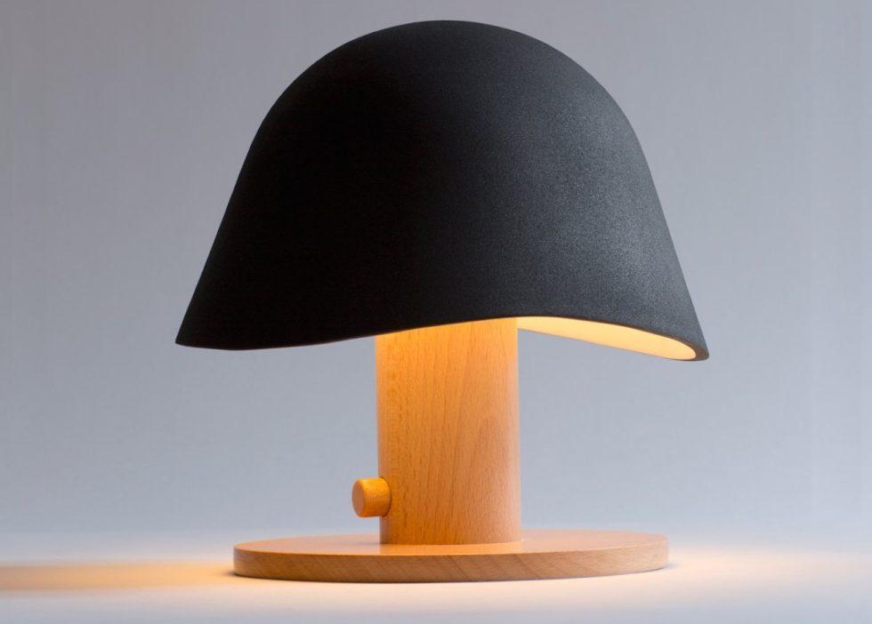 Mush Lamp - a portable table lamp - black