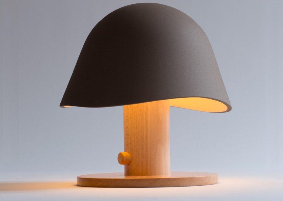 Mush Lamp - a portable table lamp - brown