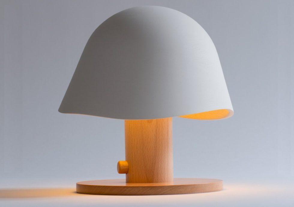 Mush Lamp - a portable table lamp - white